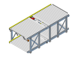 Two-level roller conveyors