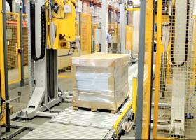 Materialtransport in der Verpackungslinie